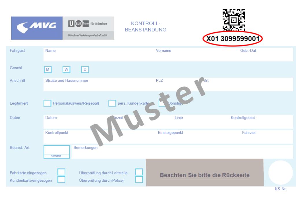 Erhöhtes Beförderungsentgelt Münchner Verkehrsgesellschaft Mbh