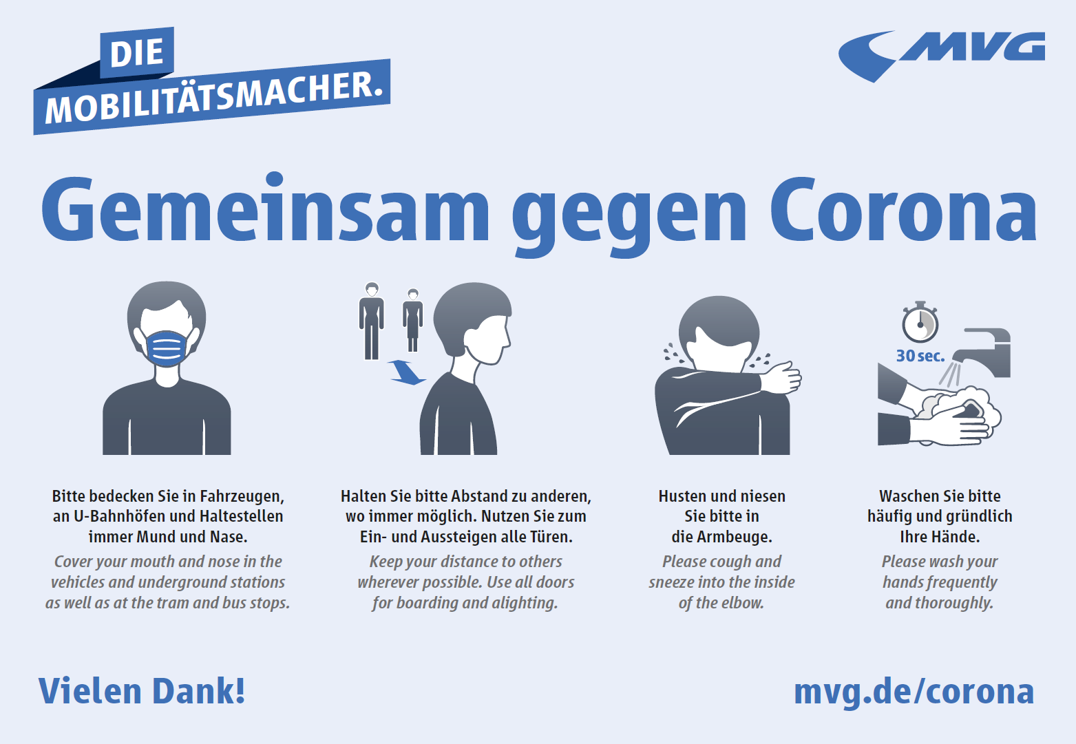 Hinweise zum Coronavirus   Münchner Verkehrsgesellschaft mbH